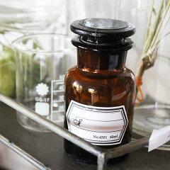 アンティークっぽいデザインの薬ビンメディカルボトル 60ml ブラウン / メディシンボトル アンバー