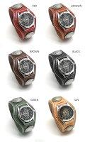 再入荷!【KC,s】雑誌掲載で爆発的な人気を誇る腕時計レザーブレスウォッチ3コンチョウォッチ【送料無料】【メンズ】【レディース】【革】【レザー】【smtb-tk】本革【FS_708-7】【F2】