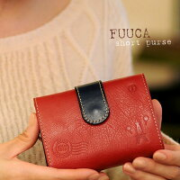 三つ折財布レディース【送料無料】CasualSelection(カジュアルセレクション)FUUCA(フウカ)レザー三つ折り財布【折り財布、さいふ、saifu、人気、ラウンド、日本製、国産、レザー、革】