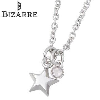 Bizarre【ビザール】エトワールシルバーネックレススター星ローズクォーツ誕生石レディース