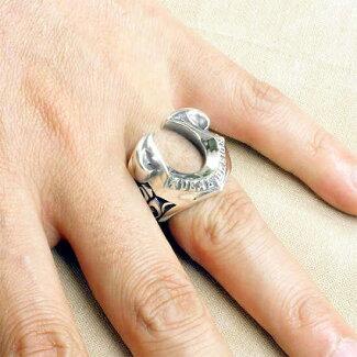 DEALDESIGN【ディールデザイン】ストリームホースシューシルバーリング指輪7号~23号【ラッピング無料】【_包装選択】