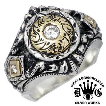 ディッキー&グランドマスター DICKY & GRANDMASTER リング 指輪 レディース メンズ シルバー ジュエリー パンドゥーラ ダイヤモンド925 スターリングシルバー DR-09-D