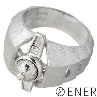 [ENER]【エネル】EVOLUTION(進化)シルバーリング/ギベオン隕石/ダイヤモンド/メンズリング/SV925/Silver/指輪/15~25号【ラッピング無料】【_包装選択】fs3gm
