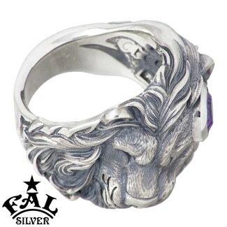 F.A.LFAL【エフエーエル】スリーピングライオンシルバーリンググリッターMQ指輪ミスティッククォーツメンズ7~30号