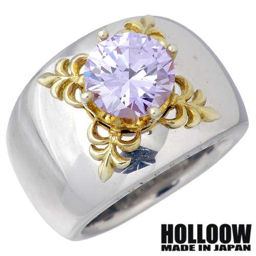 HOLLOOW【ホロウ】リング 指輪 レディース メンズ シルバー エデン ゴールド キュービック 10〜25号925 スターリングシルバー KHR-32LD