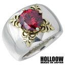 HOLLOOW【ホロウ】リング 指輪 レディース メンズ シルバー エデン ゴールド キュービック 10〜25号925 スターリングシルバー KHR-32RD