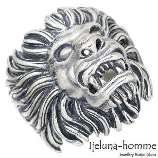 [Ijeluna-homme]【アイジェルナオム】ライオンシルバーリング指輪15~22号