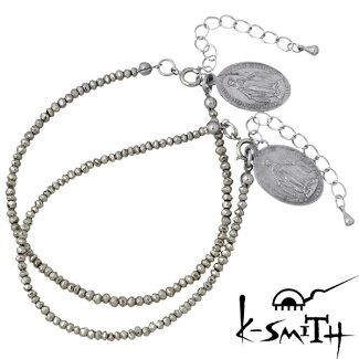 K-SMITH【ケースミス】パイライトブレスレットメダイペア