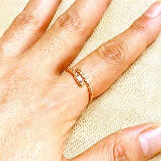 【NEW】【リングレディース】KENBLOODケンブラッドスネークシルバーリングピンク指輪11~21号