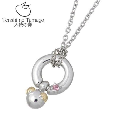 【天使の卵】 Tenshi no Tamago ネックレス レディース シルバー ジュエリー ロジウム加工 ベビー 誕生石付き 950 ブリタニアシルバー tenshi-402RM