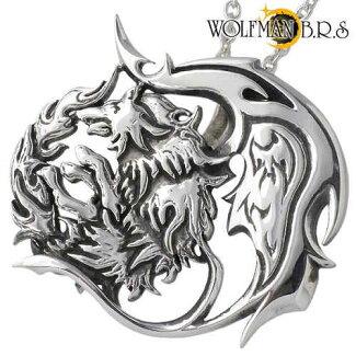 WOLFMANB.R.S【ウルフマンB.R.S】ネックレスメンズシルバーウルフチェーン付き925スターリングシルバー