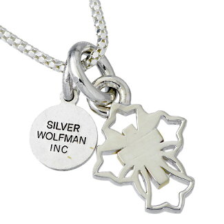WOLFMANB.R.S【ウルフマンB.R.S】ネックレスメンズシルバークロスチャームG925スターリングシルバー