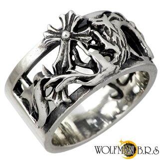 WOLFMANB.R.S【ウルフマンB.R.S】リング指輪メンズケルティックウルフwムーンクロスシルバー13~19号925スターリングシルバー