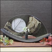 把信楽焼観月花器癒shio讓感到的土味道的罐子罐子花瓶花瓶陶器花放進去一輪挿shishigaraki陶器室內裝飾以及和服陶瓷器[ha-0181]