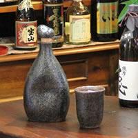 可口的水、 燒酒、 清酒、 長崎陶瓶 ! 感覺到離子瓶 (綠色) 和嘗的不同。 陶瓷儲物罐 / 保存瓶 / 陶伺服器 [ss-0074] 10P01Oct16