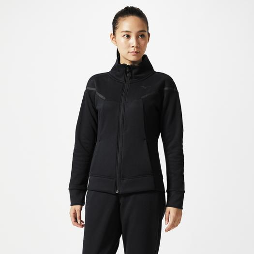 【在庫処分】ミズノ スウェットジップシャツ[レディース] ブラック Mizuno 32MC8800 09