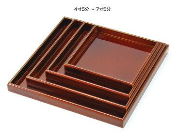 裏木曽春慶塗おはこ料理皿 7寸5分 (W32373) (料理箱・皿/敷皿・盛皿)