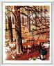 アートポスター 額入り絵画 ヤマガタ作 【スイング】 額縁(フレーム)・ヒモ付きですぐに飾れます