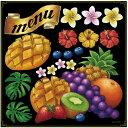 マンゴー・メニューリボン ボード用イラストシール (販促POP/看板・ボード用デコレーションシール/ ...