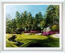 アートポスター 「オーガスタ ナショナル ゴルフクラブ」 スキャリー作(ポスターフレーム/画家名別アートポスター/サ行)