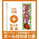 【セット商品】3m・3段伸縮のぼりポール(竿)付 のぼり旗 表示:アイベリー (7884)