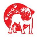 【送料無料】愛犬ネーム追加無料!20色から選んで作れる。サイズも3種類 向きや内貼りも選べま...
