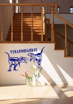 【 スーパーセール 半額 】 ウォールステッカー ティラノザウルス 恐竜 ステッカー おしゃれ モノトーン 子供部屋 窓 北欧 トイレ 浴室 台所 無地 インテリア モダン 転写式 カッティングタイプ 店舗 剥がせる シール 1