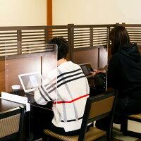 透明アクリルサイドパーテーションクランプテーブル固定450X600