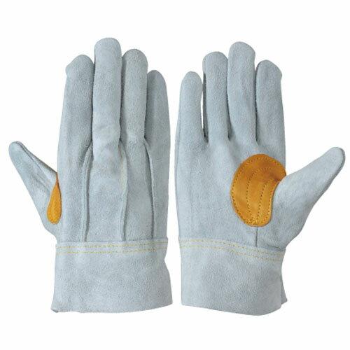 作業用手袋 革手袋 シモン 牛床革手袋 背縫い 本革当て付き 10双入り 銀当付 SIMON 107AP銀当付