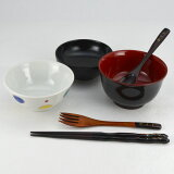 【木製漆器】【名入れ無料】ベビーセットK 男の子用 お食い初めに!(茶碗にリニューアルしました)