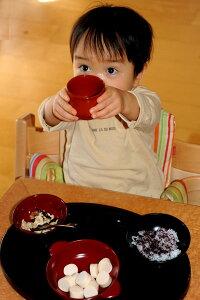 名前入り・うるわし子供用漆器セット男の子用【お食い初め】【送料無料】【越前漆器蒔絵名入れ】