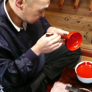百合夫婦汁椀春秋蒔絵木箱入り【蒔絵名入れ】(名前のみ)