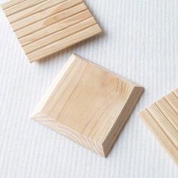桧の木製コースター