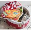 おもしろいペットハウスペット犬猫わんちゃんねこちゃんベッドコップラーメンあったかグッズ防寒かわいいおしゃれ暖かい寝具秋冬動物用ネコベッドインテリアドーナツ型ブラウングレーペット用ペットの布団猫用ねこおもしろいふわふわ