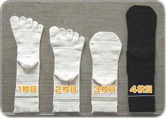 冷えとりくんは冷えとり初心者向けの靴下4足セットです。冷え性改善に大きな効果があります。内...