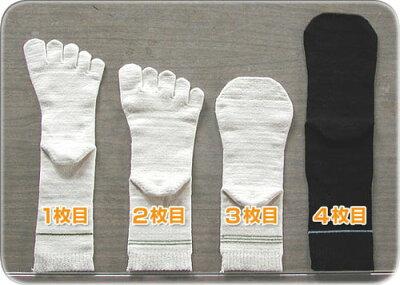 冷えとりくん 4足組(初心者向)絹木綿/生成【冷えとり靴下】