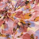 【国産】綿ポリニットプリント132cm幅×2.2mポリエステル 綿パープル オレンジ ホワイト ピンク ボルドー ワイン 黄色 紫 茶色