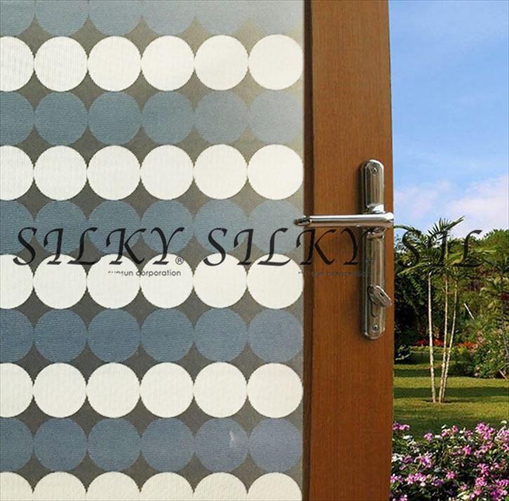 A5 [のりつき]ws-2082[ブルーラウンド]ステンドグラス風ガラスフィルム幅90(数量1で1m) 窓飾りシート 目隠し はがせる 防水 断熱 ガラスフィルム  slb | ウィンドウフィルム 目隠しシート シート 窓 ガラスシート 貼ってはがせる シール 窓ガラス DIY おしゃれ