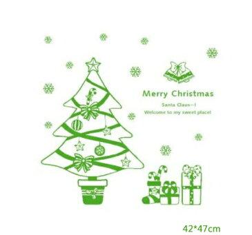 E3 転写式ウォールステッカー クリスマス 【クリスマスツリー】 飾り 装飾 シール 北欧 はがせる 壁紙 壁 窓 雪の結晶 ガラス X'mas | 壁シール ウォールシール ウオール ステッカー ウオールステッカー ウォール カッティング インテリア ツリー 子供部屋 貼ってはがせる