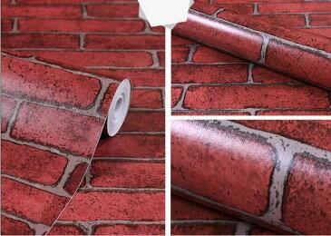 スーパーSALE限定50%OFFF1 巾45cm×長さ10メートル(数量1で10M)赤レンガ 送料無料 wp-017 カッティングシート DIY はがせる キッチン| カッティングシート ウォールシート おしゃれ カフェ リメイクシート 防水 インテリアシール 壁紙 汚れ防止 リフォームシート10m