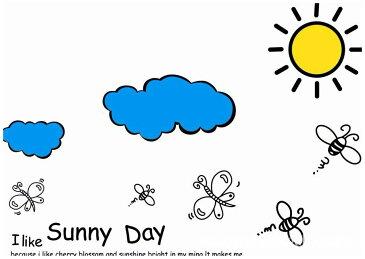 K2 【Sunny Day】ウォールステッカー ウォール ステッカー シール 北欧 はがせる 壁紙  雲/太陽/蜂/ちょうちょ