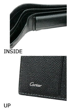 【送料無料】カルティエ2つ折り財布小銭入れ付きONYX(ブラック)サントス・ドゥ・カルティエL3000772Cartier新品・正規品【RCP】