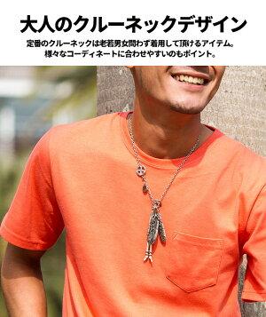 """【送料無料】""""CavariA【キャバリア】ポケット付きクルーネックTシャツ/全10色"""""""