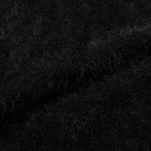 """ニットセーターメンズシャギー長袖ロゴ""""CavariA【キャバリア】バックロゴ入りビッグシルエットクルーネック長袖シャギーニット/全2色""""【あす楽対応】【ふわふわもちもちホワイトブラックオーバーサイズバックプリント秋冬2019】"""