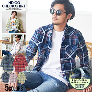 CavariA【キャバリア】7分袖チェックシャツ