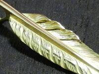 【アメカジ系アクセ】ゴールド(18金)・フェザーペンダントトップ(S)