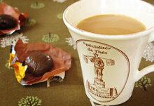 【メール便選択で送料無料】[10月の柄]イタリア・ティーバッグ・ホルダーと紅茶のセット