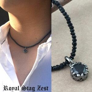 RoyalStagZestロイヤルスタッグゼスト/ブラックスピネルチャームネックレス【送料無料】