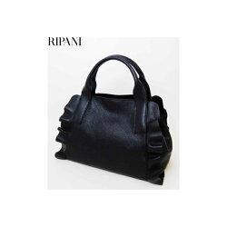 RIPANI(リパーニ)牛革シュリンクフリル2WAYハンドバッグ