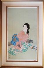 上村松園「娘深雪」版画(シルクスクリーン)25号大限定380部額装